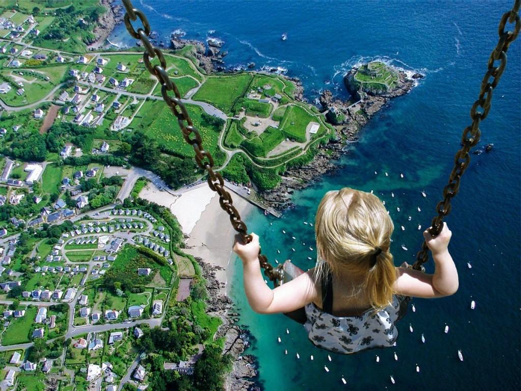 little_girl_on_swing_surreal