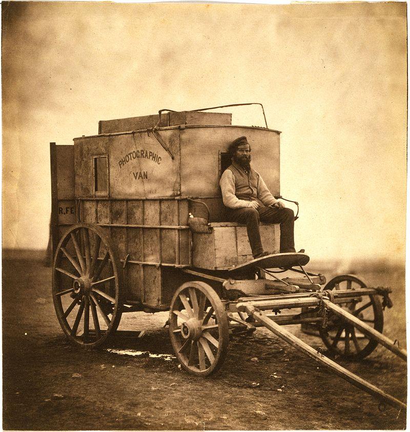 Roger Fentonin valokuvausvaunu, 1855