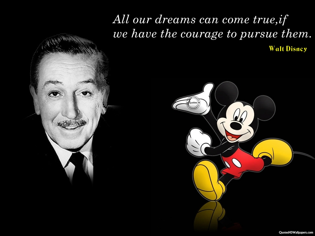 Walt Disney on monien ihmisten esikuva.