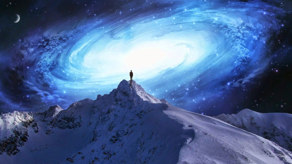 consciousness - human awakening - mountain top galaxy
