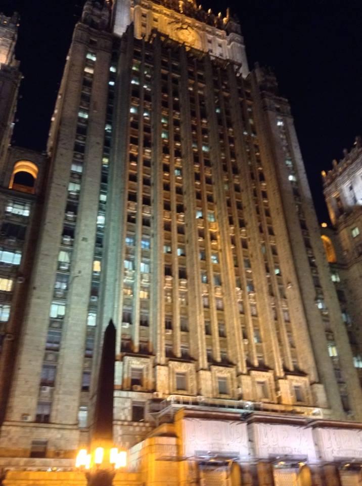 Wekcone to Gotham CIty. Moskovassa oli paljon mahtipontista arkkitehtuuria.