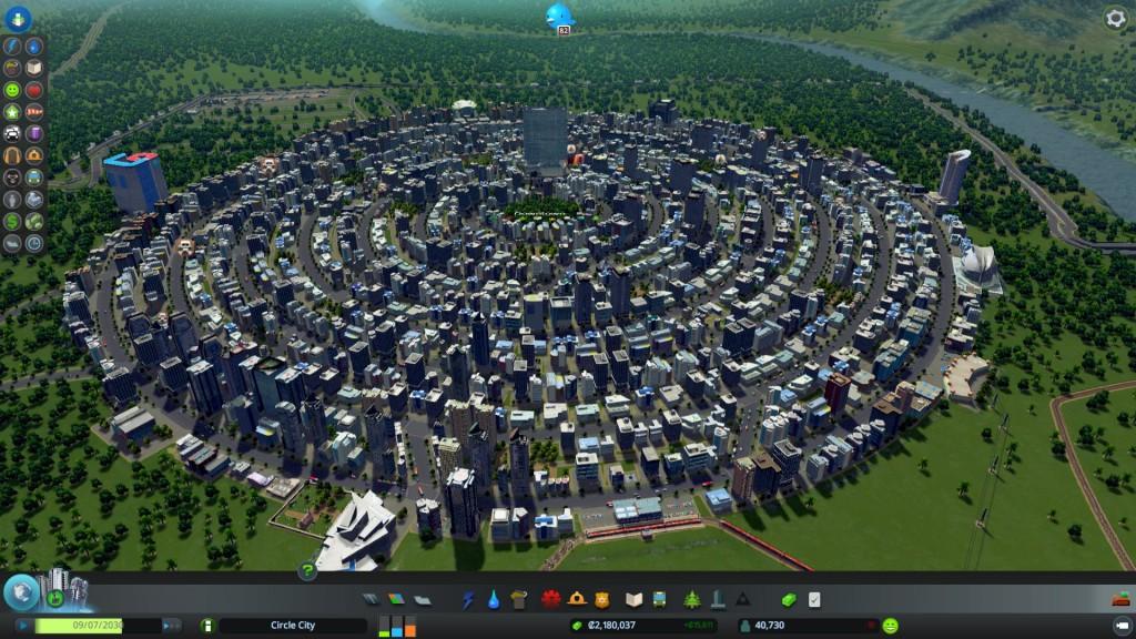 Cities: Skylines -pelissä pääsee rakentamaan omaa kaupunkiaan.
