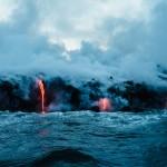 laavavuori, lava mountain, ocean, magma, lava